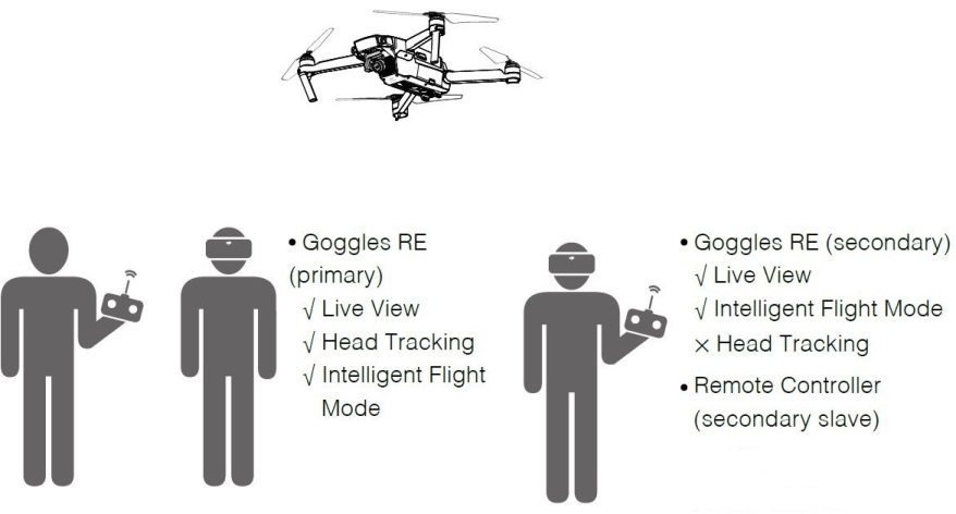 DJI Goggle RE Multiuser And Head Tracking