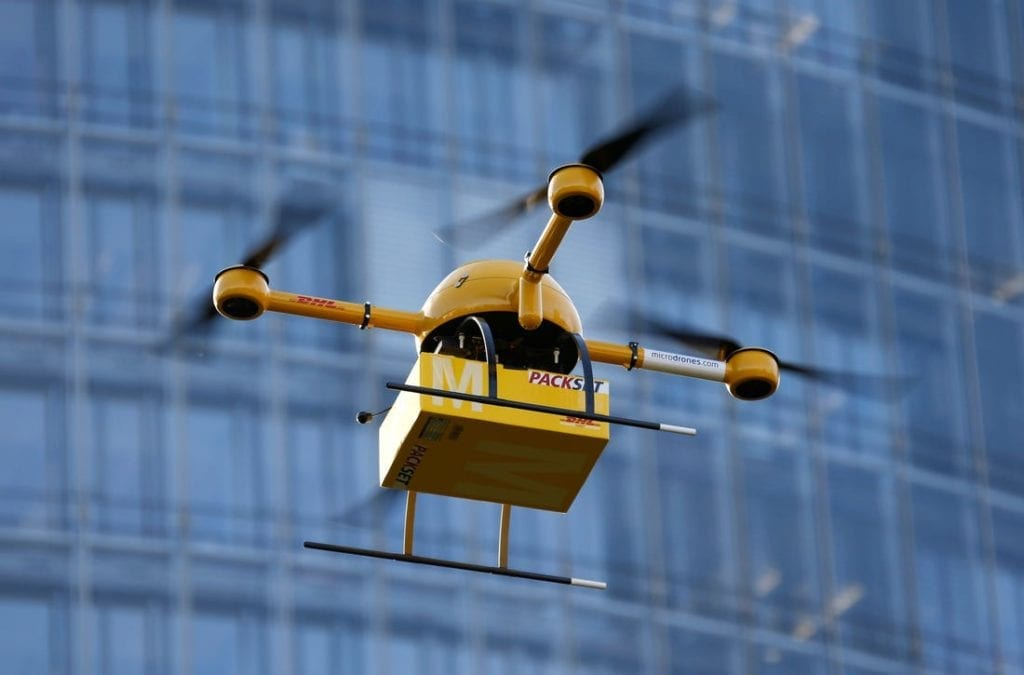 drones delivery dhl